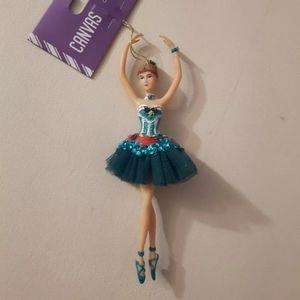 Ballerina Sugar Plum Fairy Ornament By Canvas new